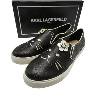 Karl Lagerfeld Paris Edison Perforated Sneakers